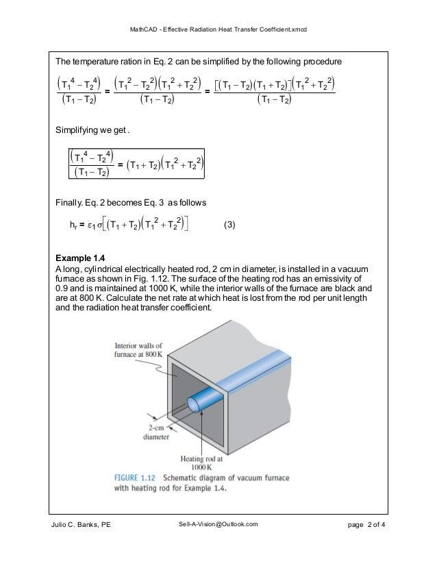 math cad effective radiation heat transfer coefficient xmcd electric furnace schematic vacuum furnace schematic #48