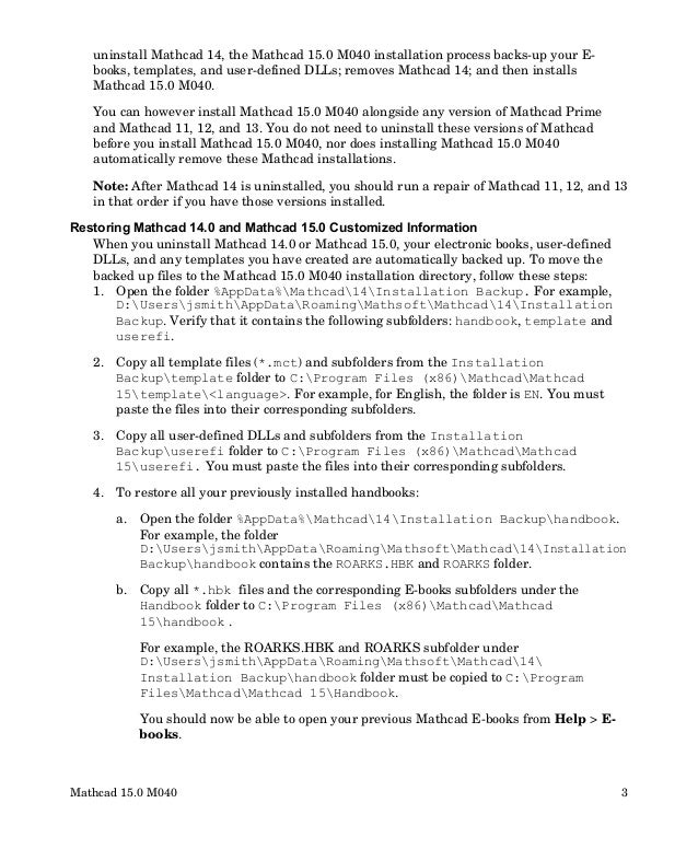 Mathcad 15.0 m40 read this first Slide 3