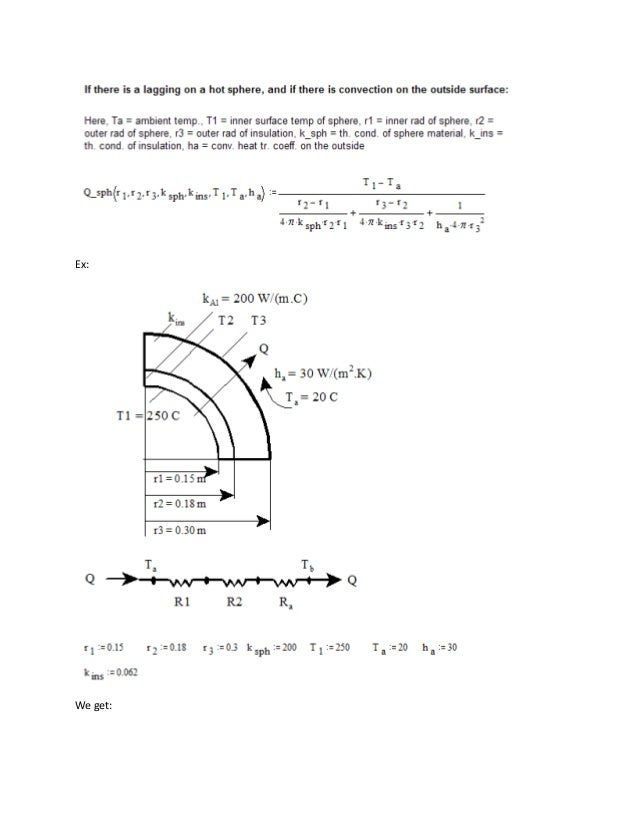 Drawing Lines In Mathcad : Mathcad functions for conduction heat transfer calculations