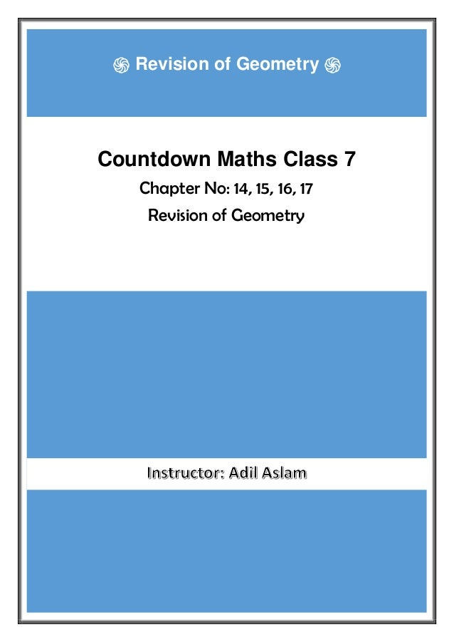 Countdown Class 7th Mathematics Solution-Revision of Geometry