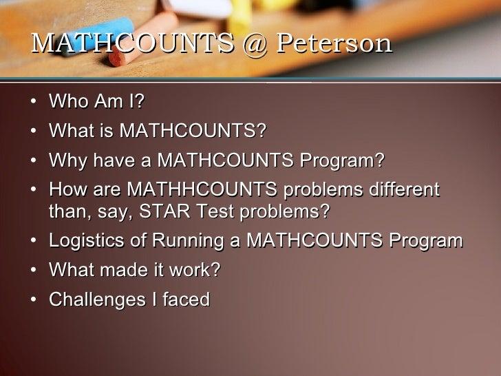 Mathcounts At Peterson 2008 09