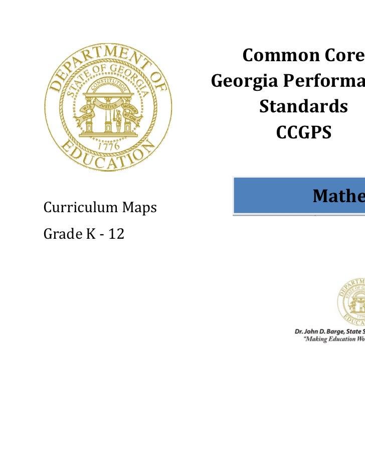 CommonCore                       GeorgiaPerformance                            Standards                             ...