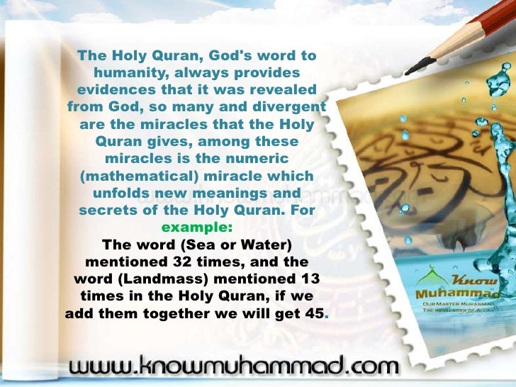 Mathematical Miracle in Quran