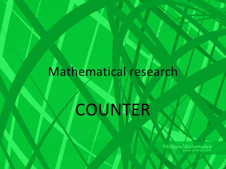 Mathematical research COUNTER