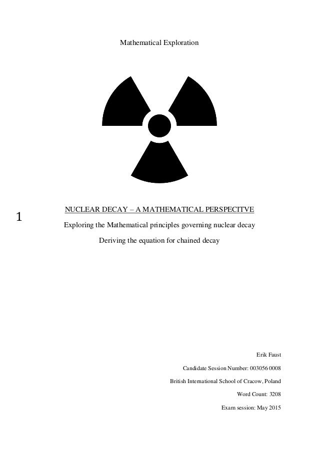 Nuclear Decay - A Mathematical Perspective