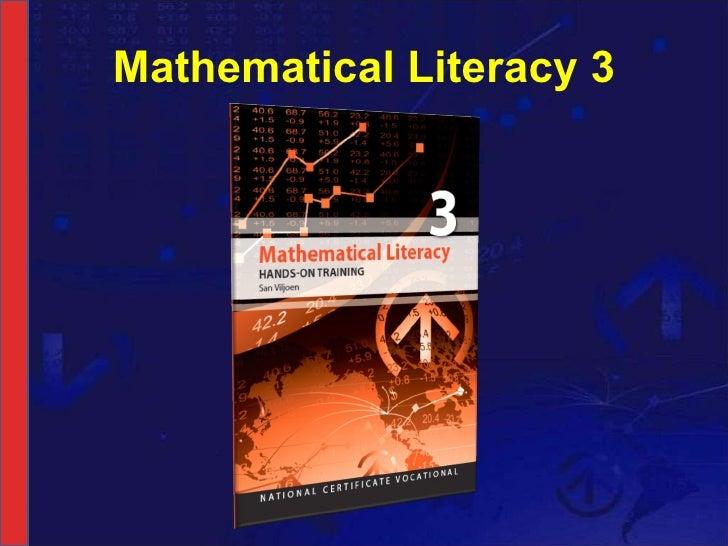 Mathematical Literacy 3