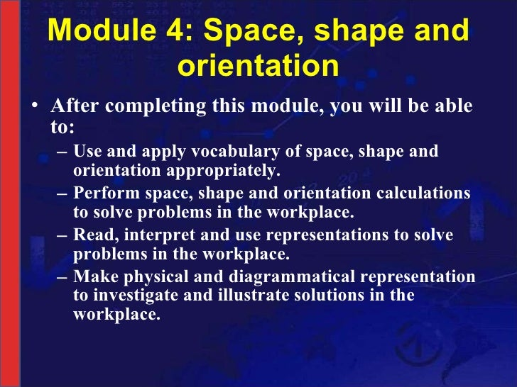 NCV 3 Mathematical Literacy Hands-On Support Slide Show - Module 4 Slide 3