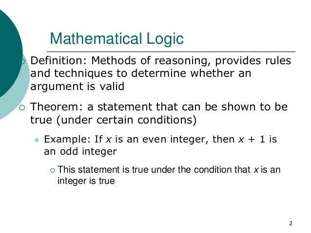 Mathematical Logic - Part 1