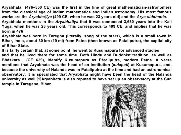 Aryabhata – Great Indian Mathematician and Astronomer