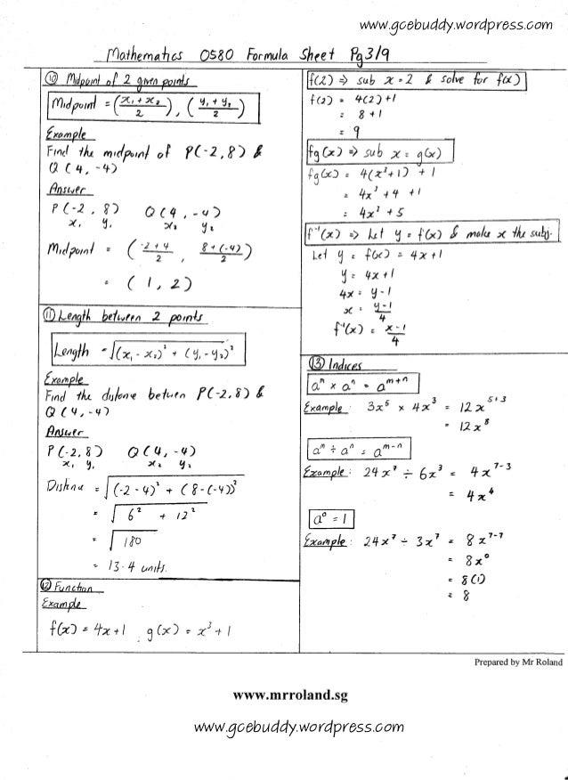 International GCSE Maths