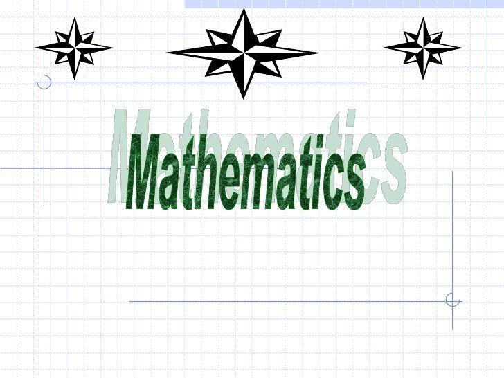 Mathematics<br />