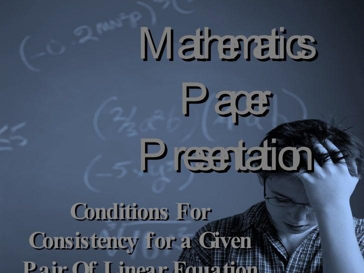 mathematics paper presentation class x