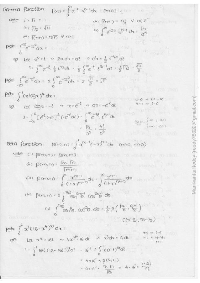 Mathematics 1 handwritten classes notes (study materials) for IES PSU…