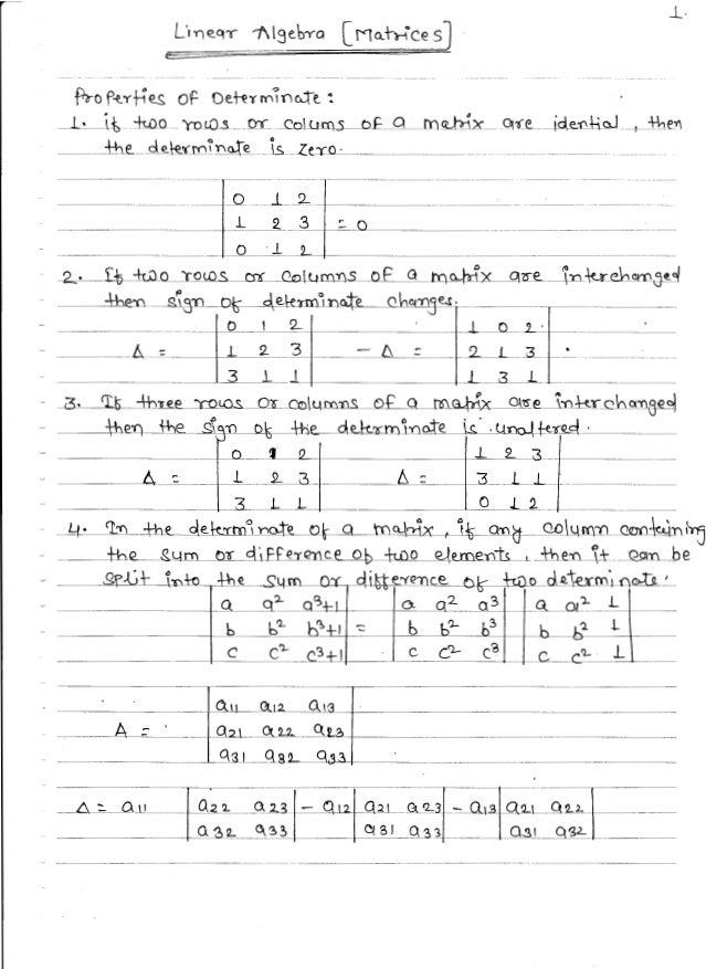 Mathematics 3 handwritten classes notes (study materials