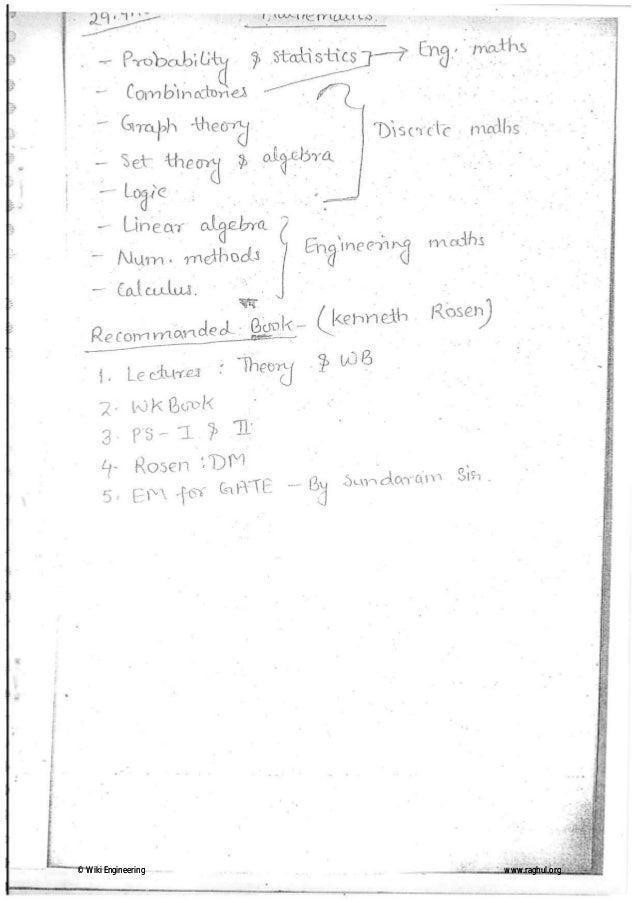 Mathematics 4 handwritten classes notes (study materials