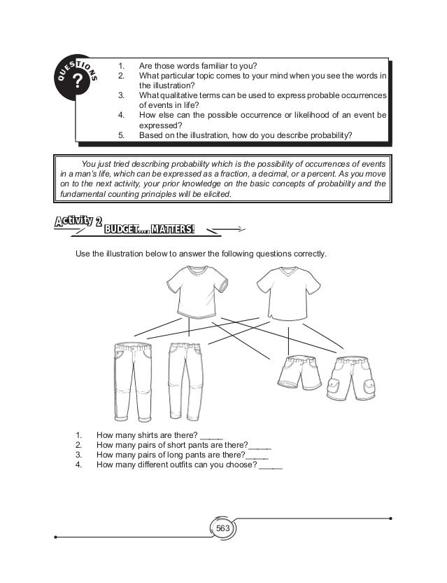 Math Connections Worksheets : Probability math worksheet three bo best