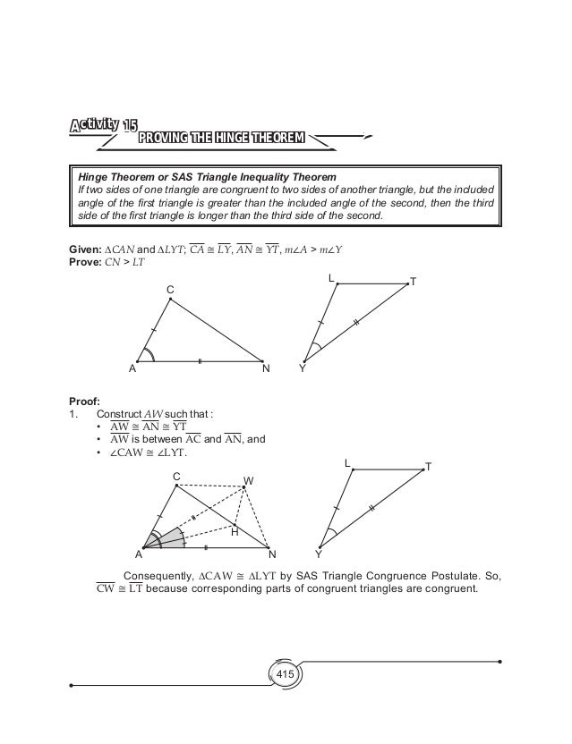 Mathematics 8 Triangle Inequality – Triangle Inequalities Worksheet