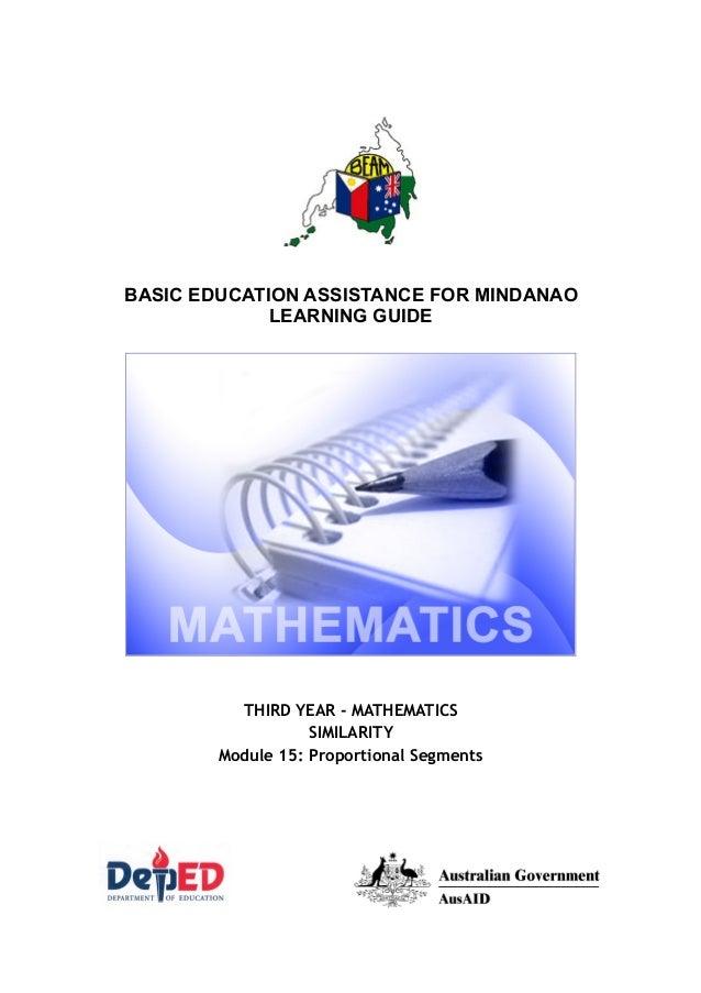 Mathematics 9 Proportional Segments