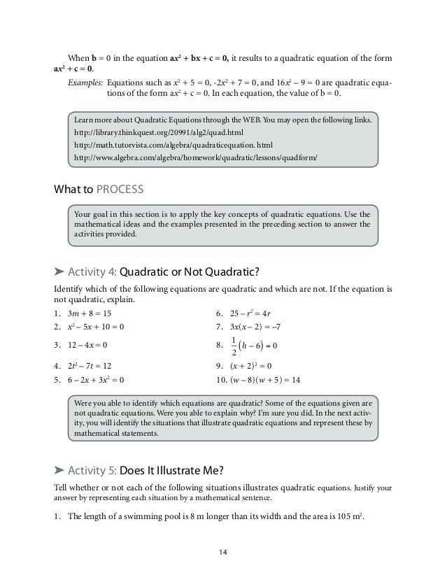 mathematics quadratic equations and inequalities 17