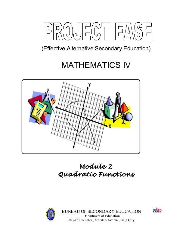 mathematics 9 quadratic functions module 2