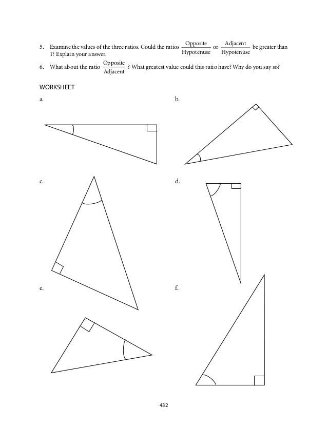 Math Trigonometry Worksheets trigonometry worksheets kuta rringband – Trig Ratio Worksheet