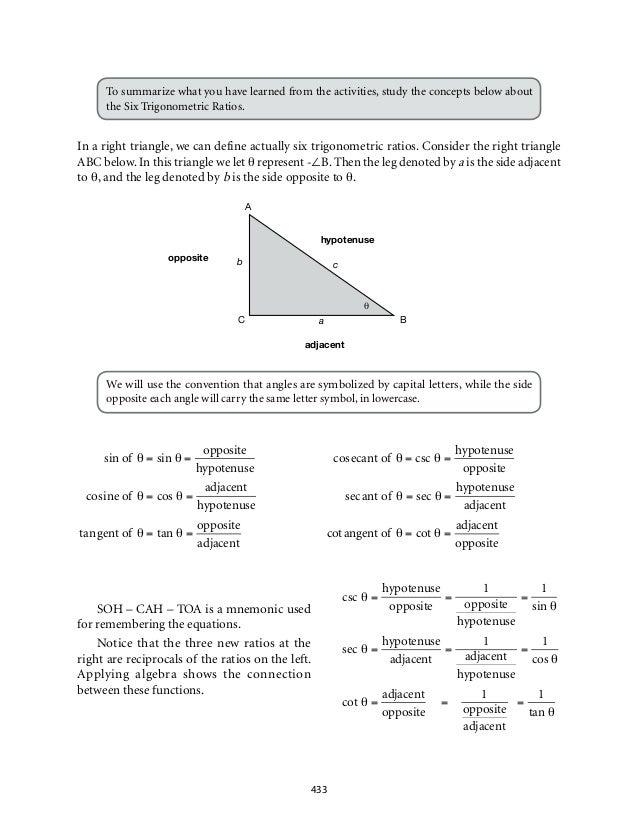 mathematics 9 six trigonometric ratios. Black Bedroom Furniture Sets. Home Design Ideas