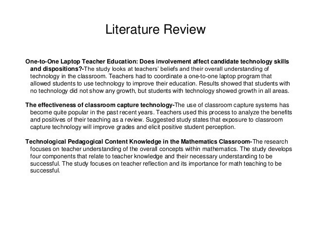 literature review educational technology Guidelines for writing a literature review by helen different technology tools that you might want to of west georgia, distance education.