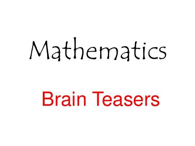 Mathematics Brain Teasers