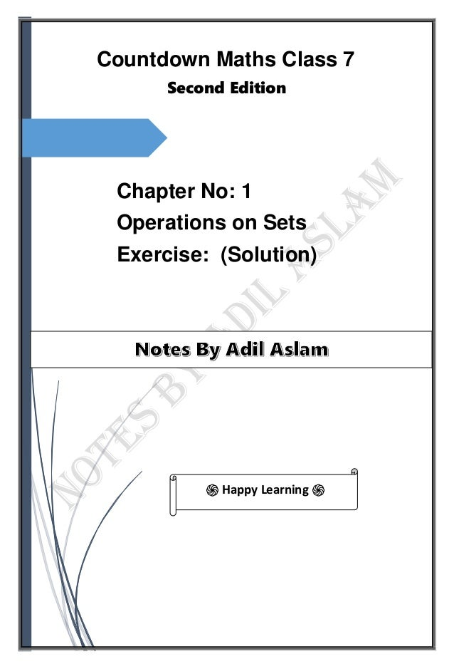 Countdown Mathematics Class 7th Second Edition Chapter 1