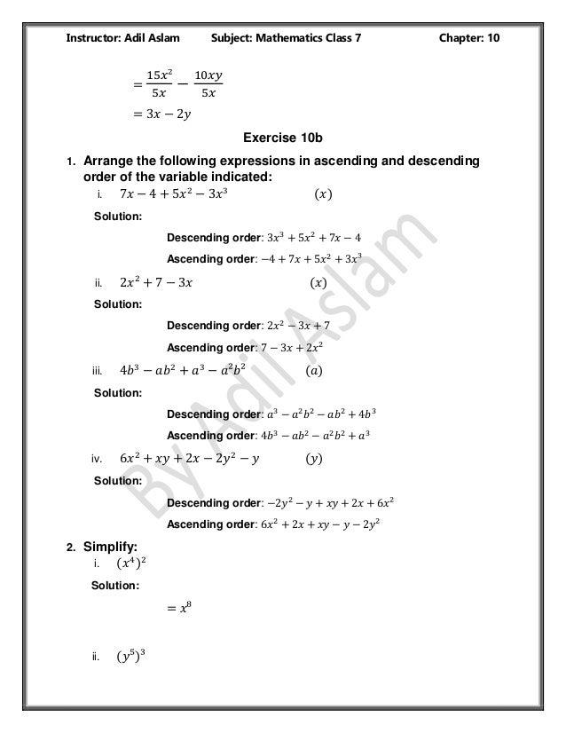 Countdown Class 7th Mathematics Chapter 10 Solution