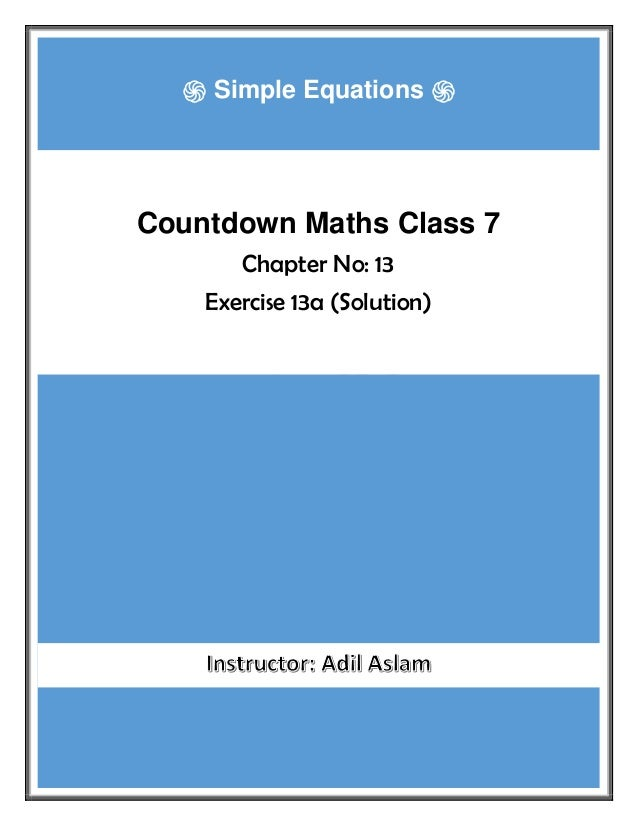 Countdown Class 7th Mathematics Chapter 13 Solution