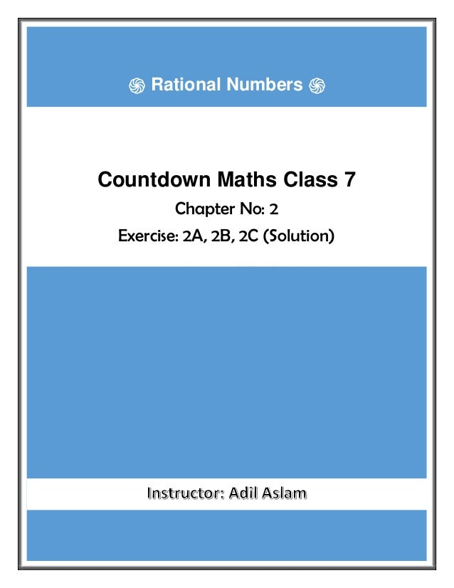 Countdown Class 7th Mathematics Chapter 2 Solution