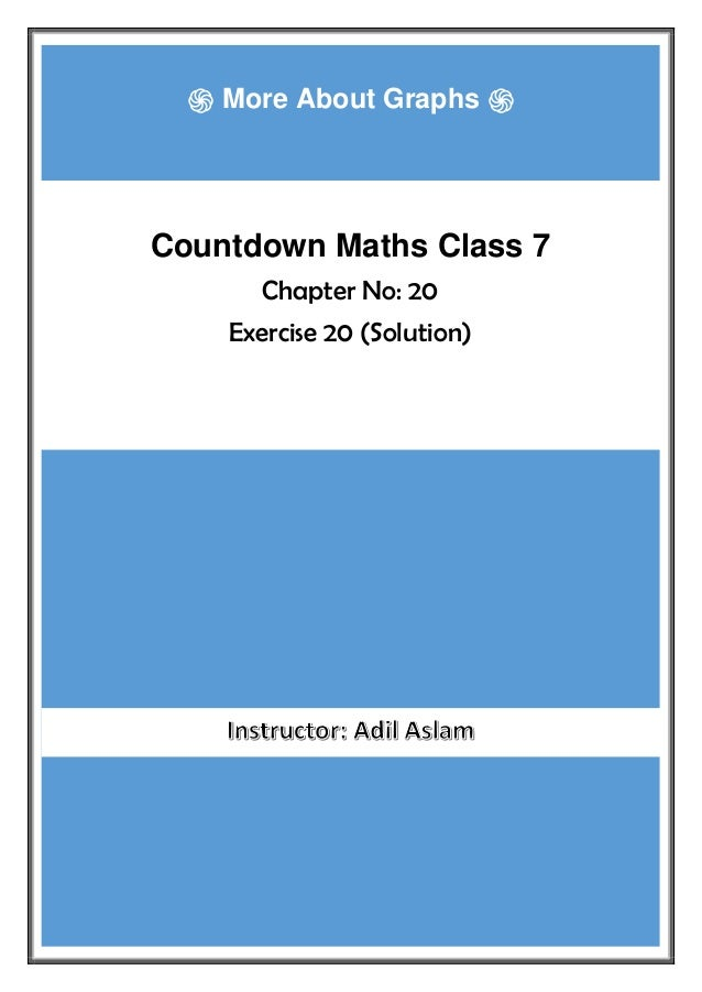Countdown Class 7th Mathematics Chapter 20 Solution