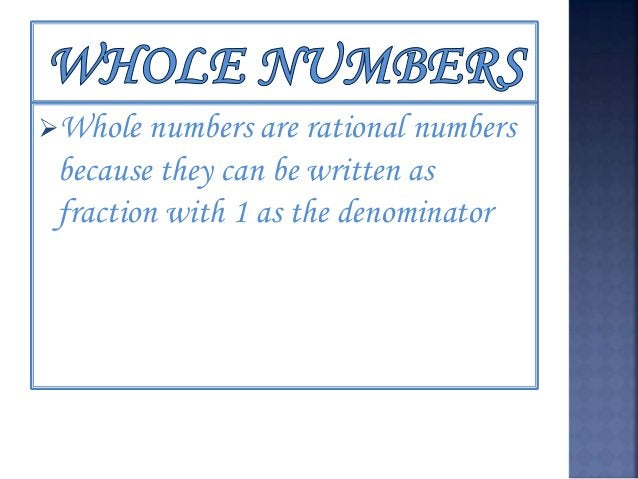 Whole Numbers Operation Numbers Remarks Addition 0+7=7+0=7, 2+3=3+2=5 For any two whole numbers a and b, a+b = b+a Additi...