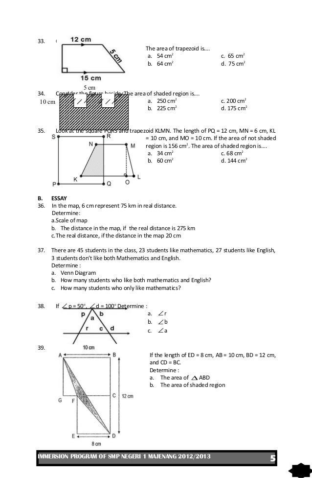 Ukk matematika kelas vii 2013 5 33 ccuart Images