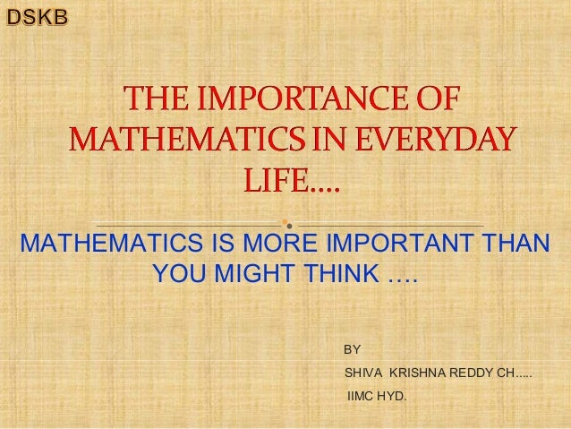 Importance of mathematics in everyday life