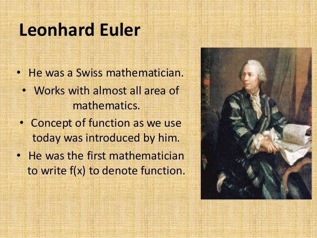 a biography of leonhard euler the swiss mathematician Leonhard paul euler was a pioneering swiss mathematician and physicist 250 years from the birth of the great mathematician and academician, leonhard euler.