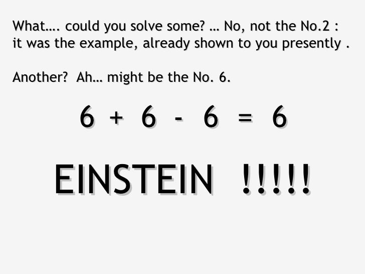 What…. could you solve some? … No, not the No.2 :it was the example, already shown to you presently .Another? Ah… might be...