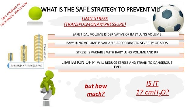WHAT IS THE SAFE STRATEGY TO PREVENT VILI SAFE TIDAL VOLUME IS DERIVATIVE OF BABY LUNG VOLUME BABY LUNG VOLUME IS VARIABLE...