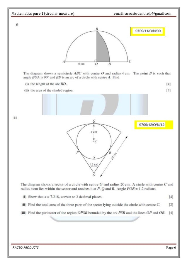 As Level Circular Measure Geometry Explained