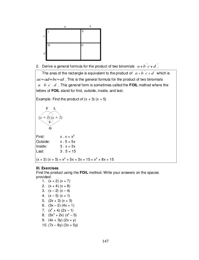 K TO 12 GRADE 7 LEARNING MODULE IN MATHEMATICS (Q1-Q2)
