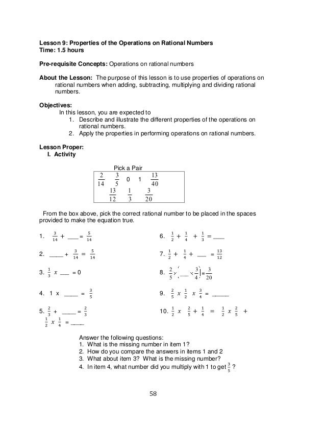 Mathematics Learning Module Grade 8 Answer Key grade 9 – Math Worksheets for Grade 7 with Answer