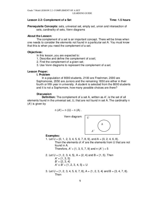Printables Maths Grade 7 Images k to 12 grade 7 learning module in mathematics q1 q2 math