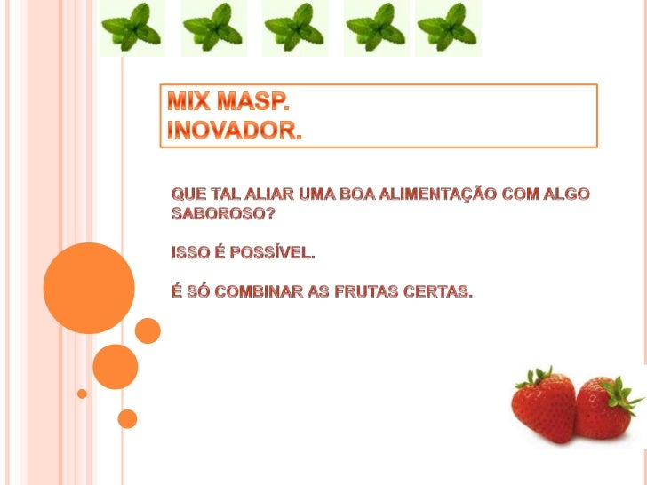 "VITAMINAS E MINERAIS NO ""MIX"""