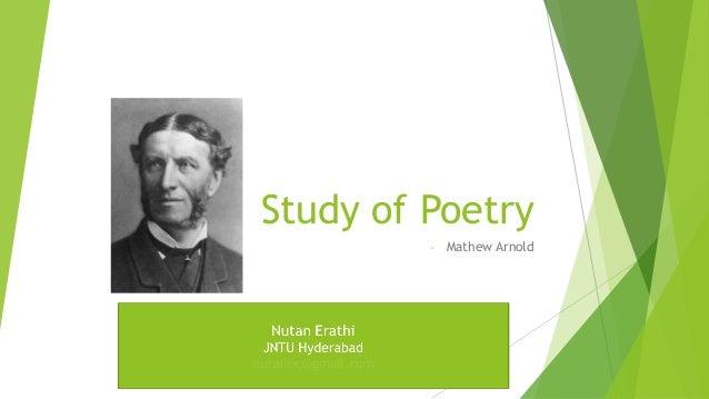 Study of Poetry- Mathew Arnold