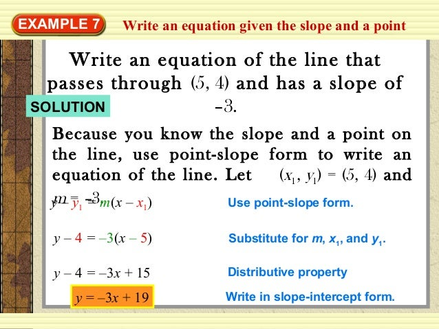 Equation Of The Line