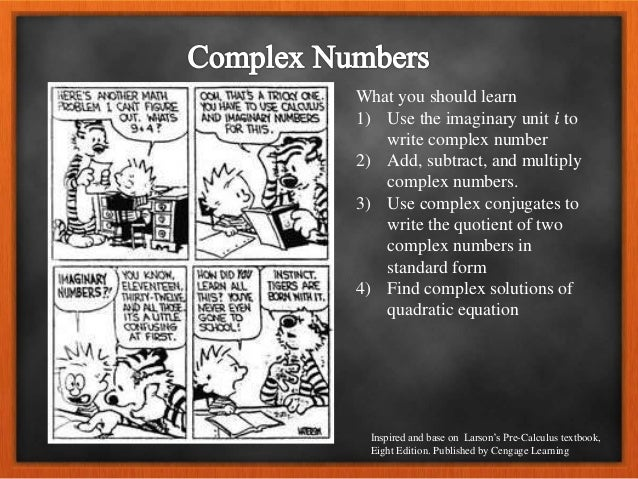 Powerpoint On Complex Number Digital Unit
