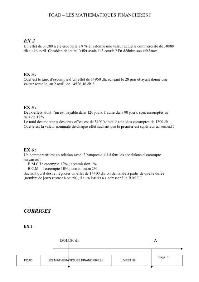 Math Finan I