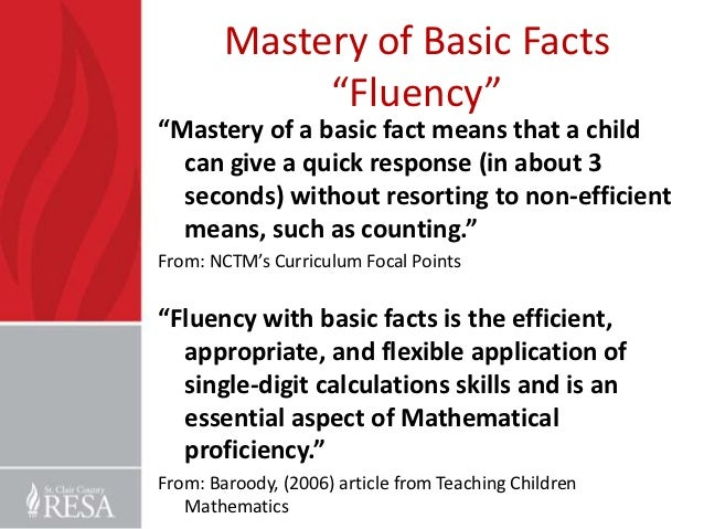 Math fluency for all students ppt