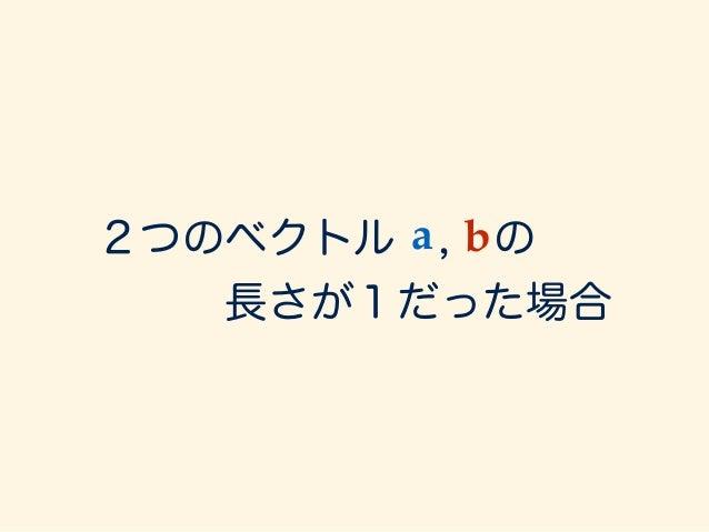 a · b = kakkbk cos ✓ = cos ✓ = 1 = 1